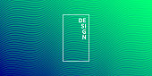 Modern and trendy abstract background. Geometric design with a beautiful gradient of curves and colors. This illustration can be used for your design, with space for your text (colors used: Green, Blue). Vector Illustration (EPS10, well layered and grouped), wide format (2:1). Easy to edit, manipulate, resize or colorize.
