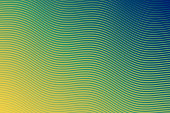 Modern and trendy abstract background. Geometric design with a beautiful gradient of curves and colors. This illustration can be used for your design, with space for your text (colors used: Yellow, Green, Blue). Vector Illustration (EPS10, well layered and grouped), wide format (3:2). Easy to edit, manipulate, resize or colorize.