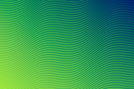 Trendy geometric design - Green abstract background