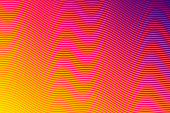 Modern and trendy abstract background. Geometric design with a beautiful gradient of curves and colors. This illustration can be used for your design, with space for your text (colors used: Yellow, Orange, Red, Pink, Purple). Vector Illustration (EPS10, well layered and grouped), wide format (3:2). Easy to edit, manipulate, resize or colorize.