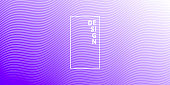 Modern and trendy abstract background. Geometric design with a beautiful gradient of curves and colors. This illustration can be used for your design, with space for your text (colors used: White, Purple, Blue). Vector Illustration (EPS10, well layered and grouped), wide format (2:1). Easy to edit, manipulate, resize or colorize.