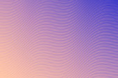 Modern and trendy abstract background. Geometric design with a beautiful gradient of curves and colors. This illustration can be used for your design, with space for your text (colors used: Orange, Beige, Pink, Purple, Blue). Vector Illustration (EPS10, well layered and grouped), wide format (3:2). Easy to edit, manipulate, resize or colorize.