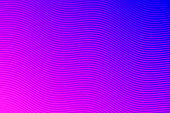 Modern and trendy abstract background. Geometric design with a beautiful gradient of curves and colors. This illustration can be used for your design, with space for your text (colors used: Pink, Purple, Blue). Vector Illustration (EPS10, well layered and grouped), wide format (3:2). Easy to edit, manipulate, resize or colorize.