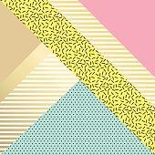 Trendy geometric elements retro cards.