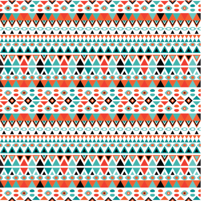 Trendy Geometric Retro Pattern