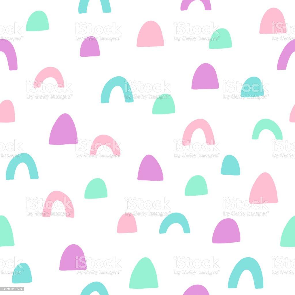 Trendy geometric seamless pattern vector art illustration
