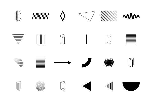 Trendige geometrische Formen für Logo, Plakatwand – Vektorgrafik