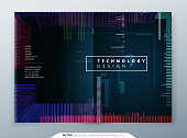 Trendy glitch covers design with geometric pattern. Modern vector illustration