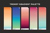 Trendy gradient swatches