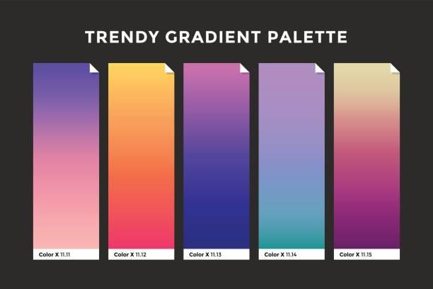 illustrazioni stock, clip art, cartoni animati e icone di tendenza di trendy gradient swatches - huế