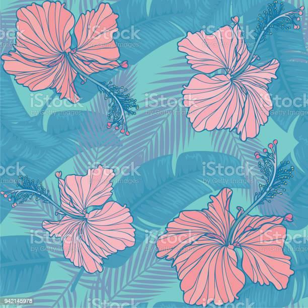 Trendy hibiscus leaf seamless pattern vector id942145978?b=1&k=6&m=942145978&s=612x612&h=h9e 8wj5gehwuhmsc5pm zkvhibz2cofwm l c mksi=