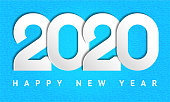 Happy new year 2020 text design, for you website, calendar, poster, invitation card, banner