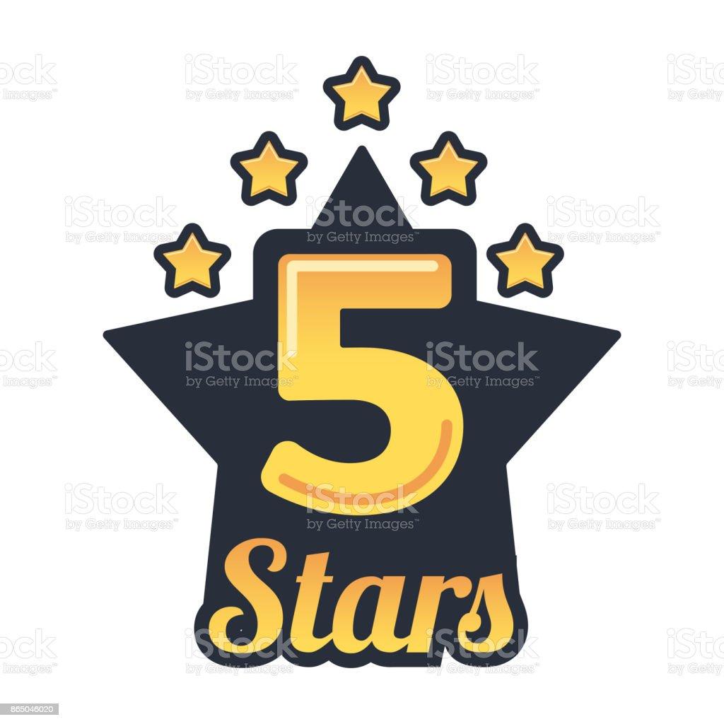 Trendy icon for 5 stars rating. Vector logo design