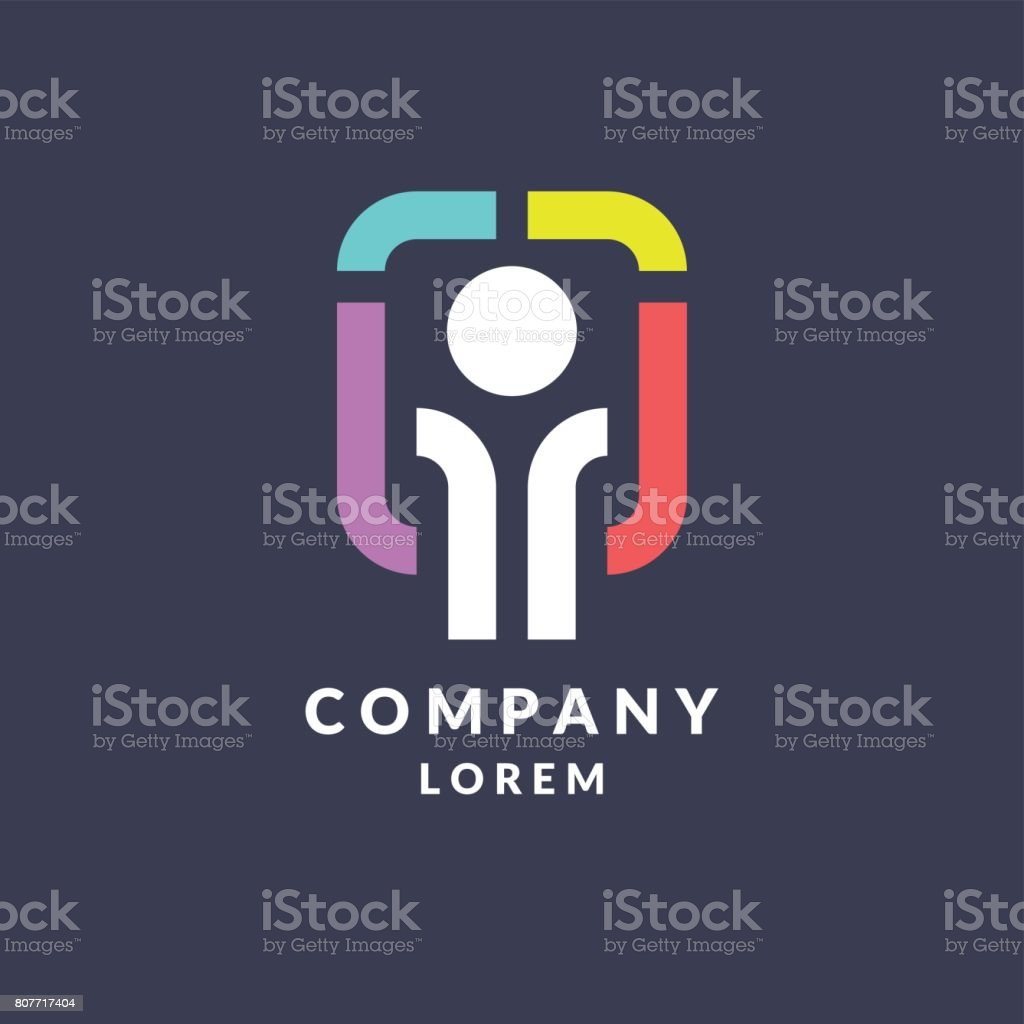 Trendy icon for the company business vector art illustration