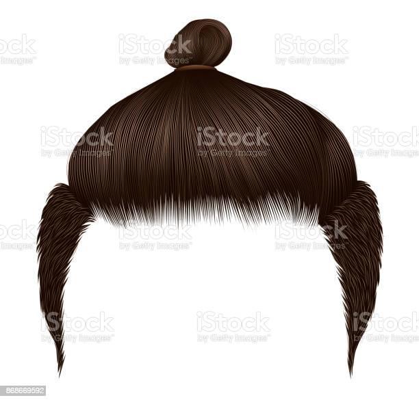 Trendy man hairs bun brown color beauty style realistic 3d vector id868669592?b=1&k=6&m=868669592&s=612x612&h=ndm7lbi8ao4irrf0xtvgzl lrvrtf3up3xjamwhythm=