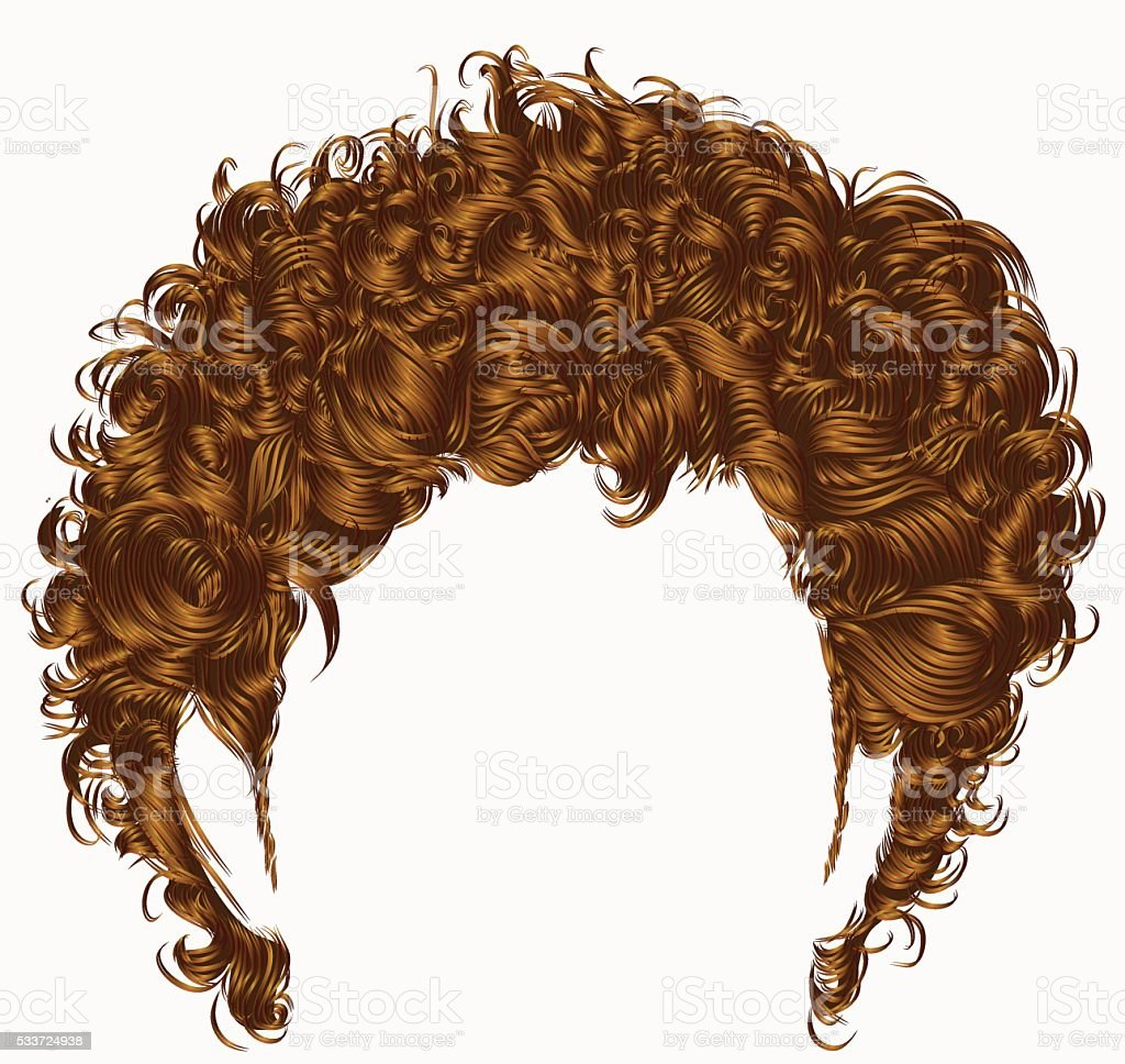 trendy man hairs  fringe . medium length . beauty style .realistic  3d . vector art illustration