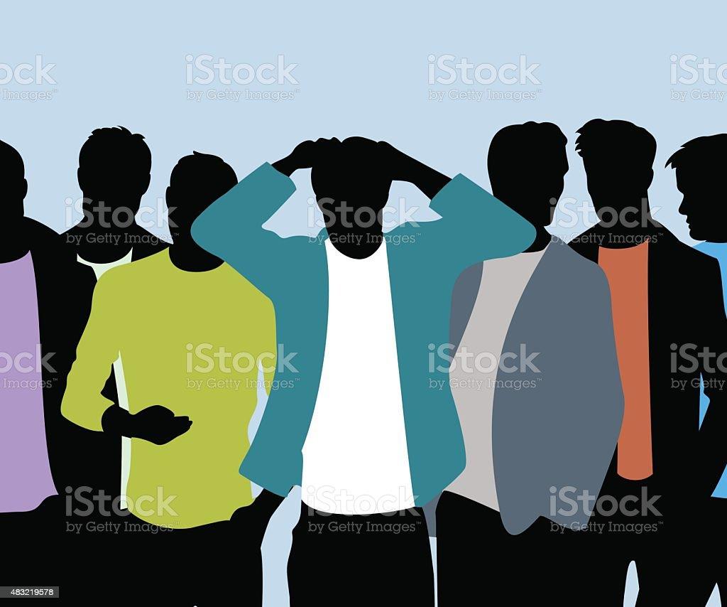 Trendige Männer – Vektorgrafik