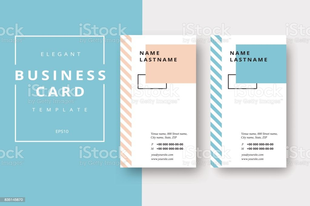 Trendy Minimal Abstract Business Card Templates Modern Corporate ...