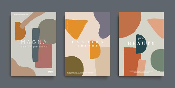 Trendy minimal fashion cover templates.