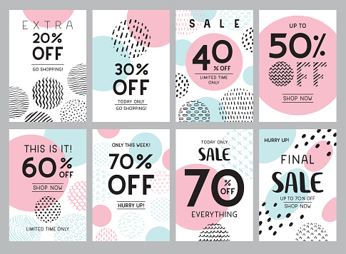 Trendy online sale banners
