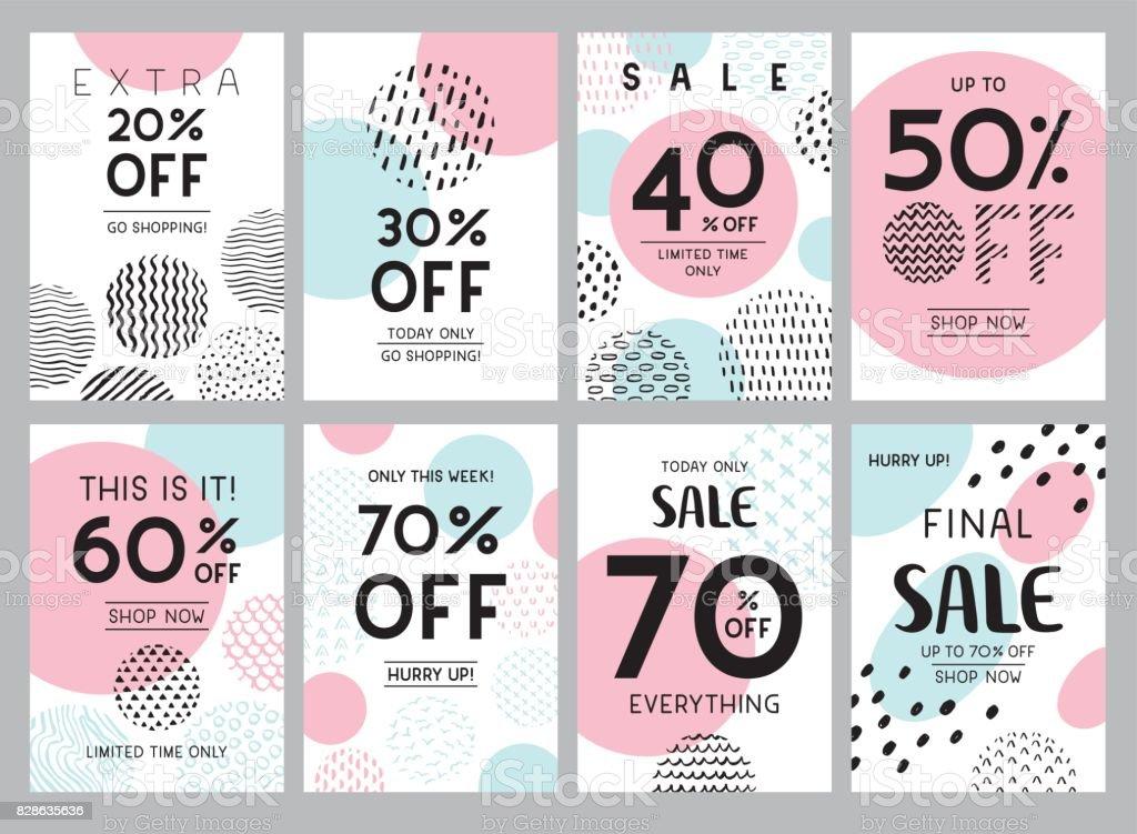 Banners de moda de venta online - ilustración de arte vectorial