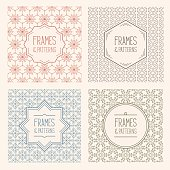 Easily editable collection of flat vector patterns on layers. No transparencies used.