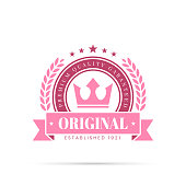 istock Trendy Pink Badge - Original, Premium Quality Guaranteed 1267712421