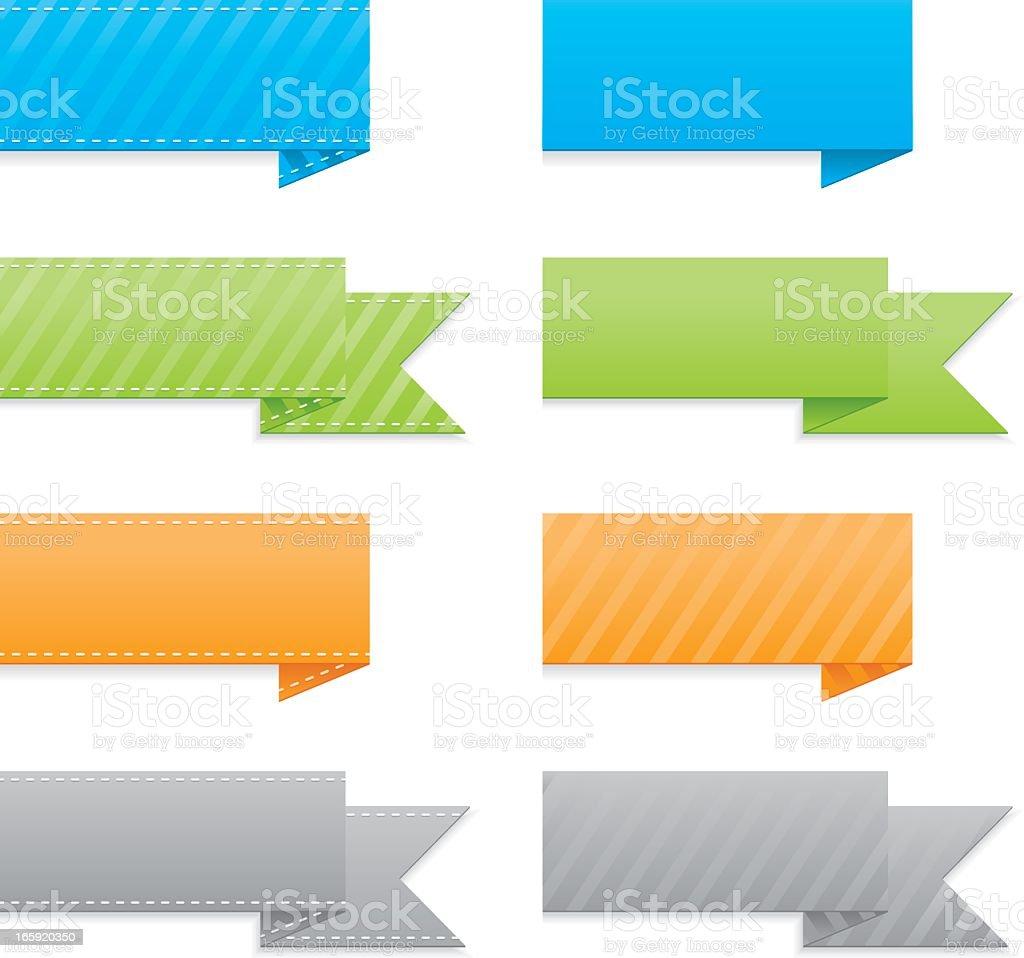 Trendy Ribbons Icon Set royalty-free stock vector art