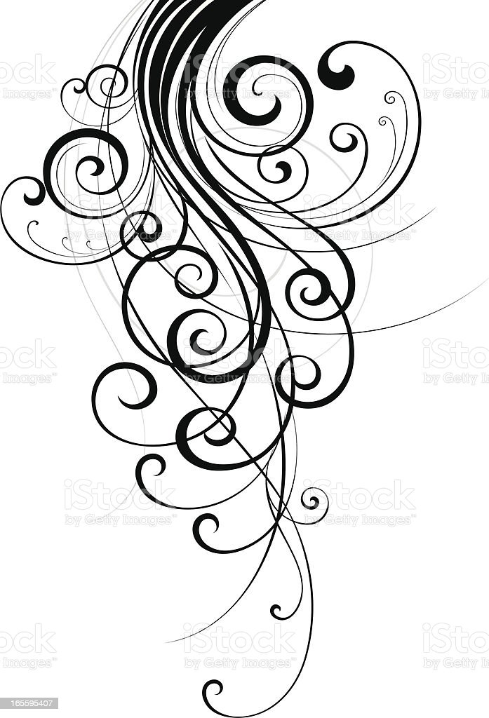Trendy Scroll vector art illustration