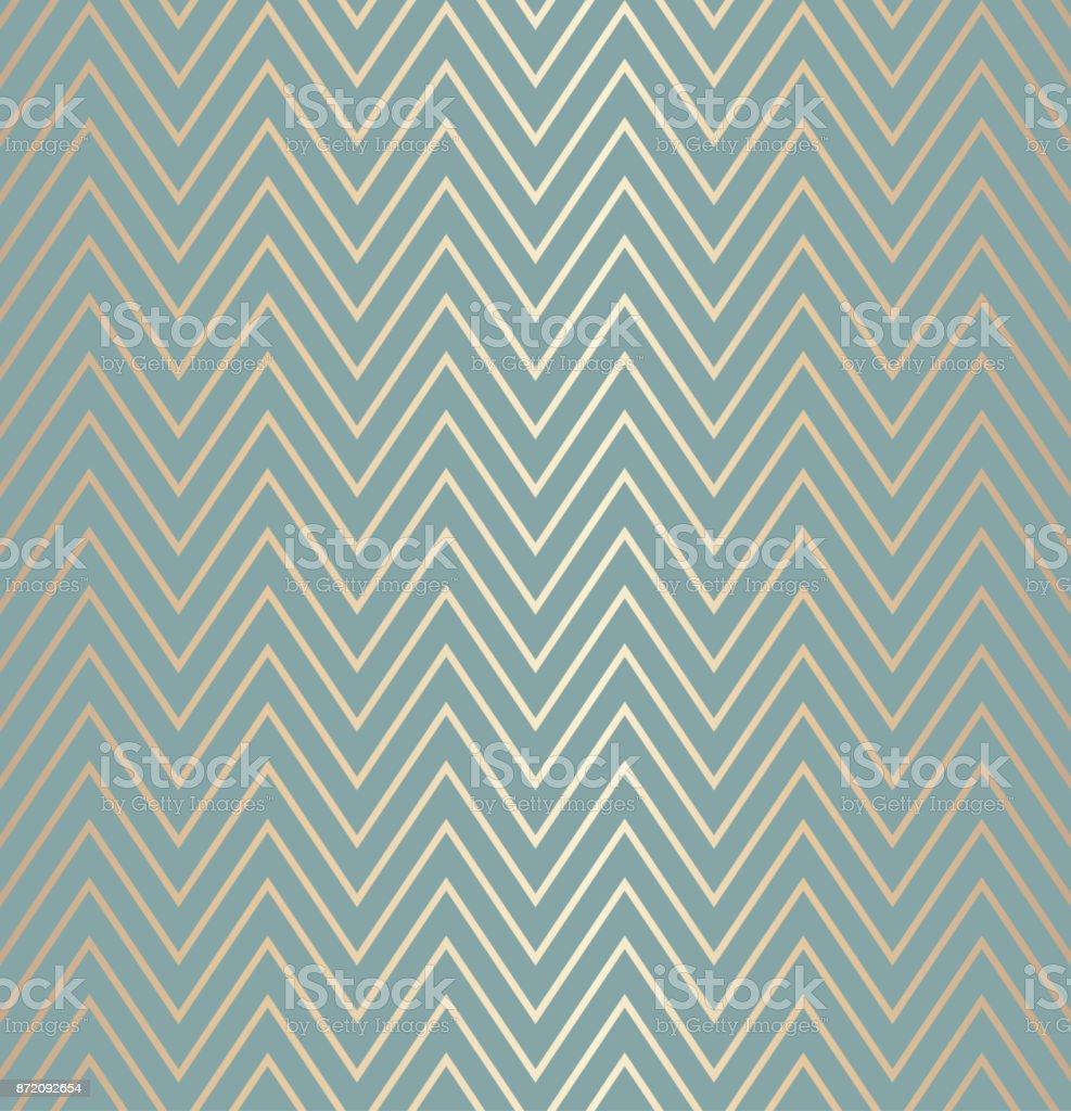 Trendige Einfache Nahtlose Zick Zack Golden Geometrische Muster Grün ...