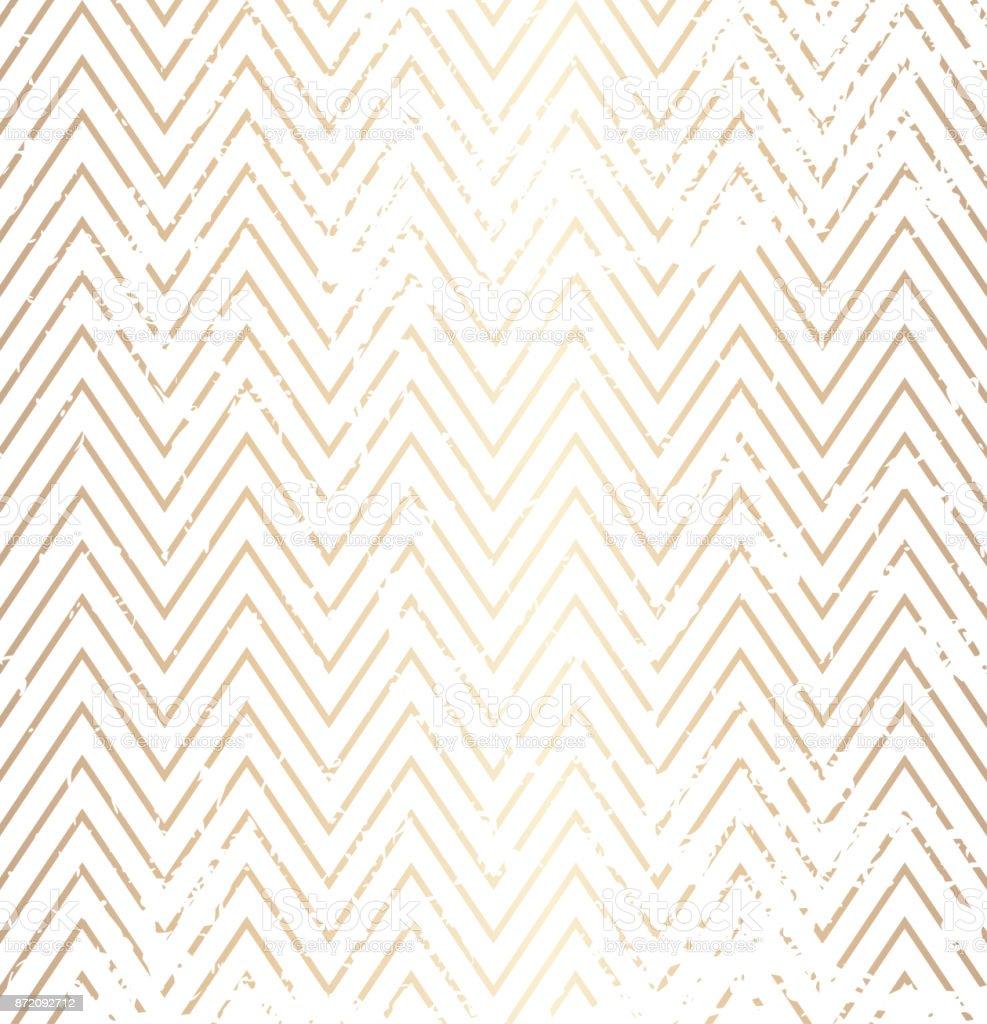 Trendige Einfache Zick Zack Golden Distressed Geometrische Muster ...