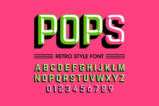 Trendy Style Pop Art Font Stock Illustration - Download Image Now