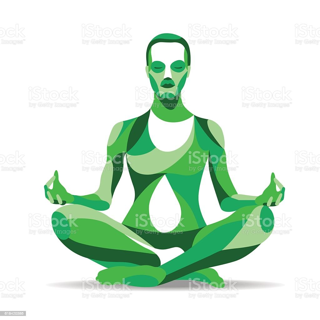 Trendy stylized illustration movement, yoga poses, young woman practicing meditation royalty-free trendy stylized illustration movement yoga poses young woman practicing meditation stock vector art & more images of adult