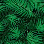 Trendy summer jungle repeat pattern.