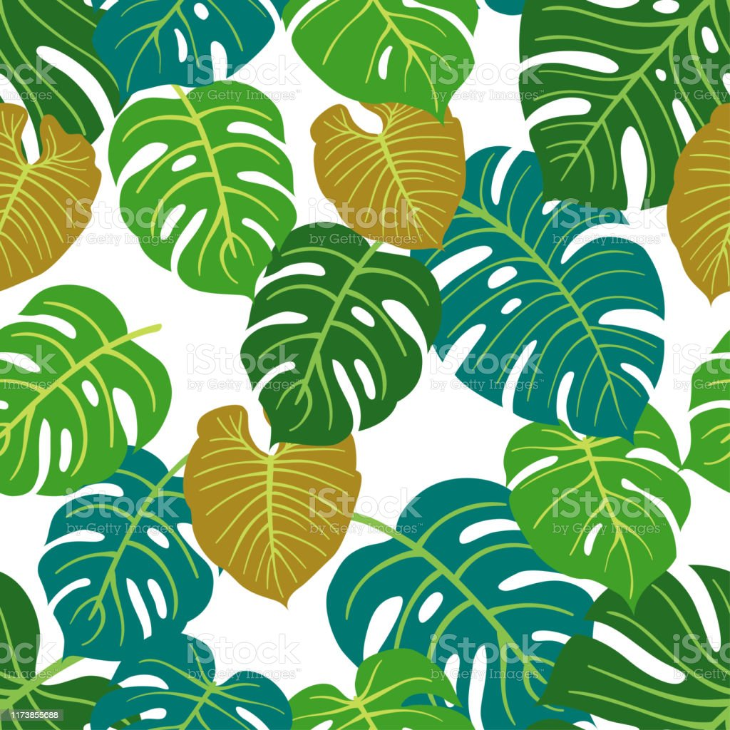 Trendy Summer Tropical Leaves Vector Design Floral Seamless Pattern Doodle Vector Background With Leaves Stock Illustration Download Image Now Istock Vector tropical floral botanical flowers. trendy summer tropical leaves vector design floral seamless pattern doodle vector background with leaves stock illustration download image now istock