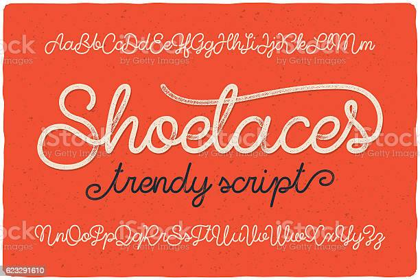 Trendy textured one line handwritten font script named shoelaces vector id623291610?b=1&k=6&m=623291610&s=612x612&h=r2mgwoedjeqcatdwarci9gcv8j8tng1a5b4s55hqagk=