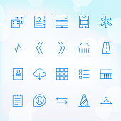 20 Trendy Thin Icons for web and mobile Set 11
