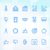 20 Trendy Thin Icons for web and mobile Set 22