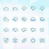20 Trendy Thin Icons for web and mobile Set 8