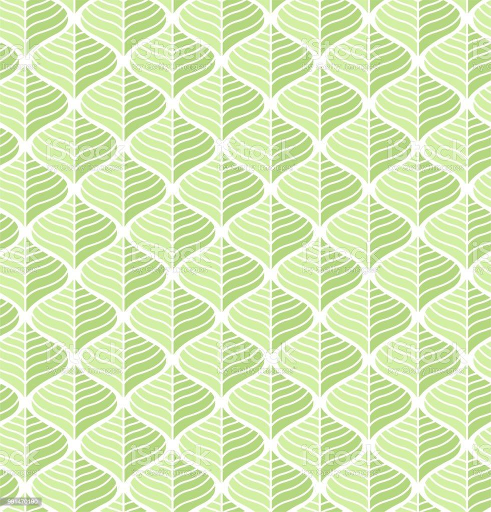 Na moda Tropical deixa vetor padrão sem emenda. Floral fundo orgânico. - ilustração de arte em vetor