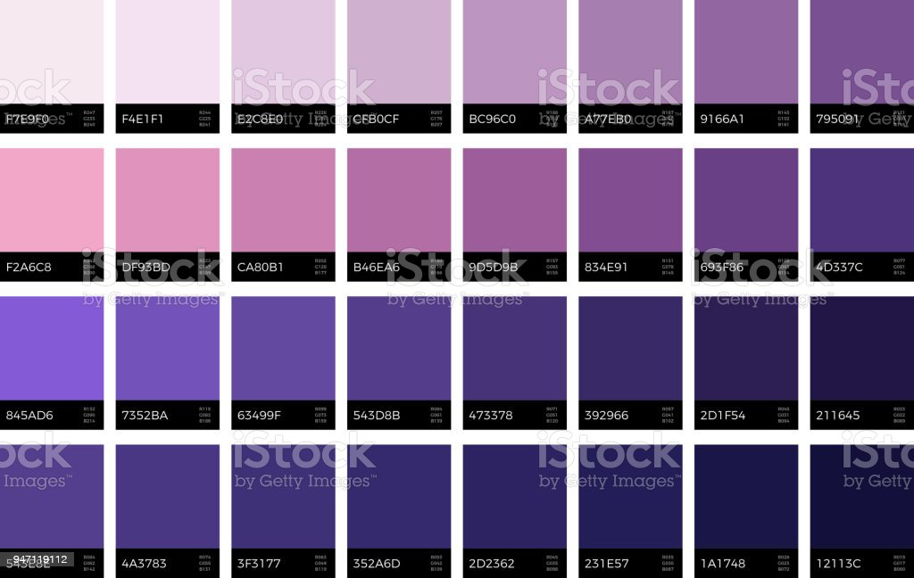 Trendy Ultra Violet Swatches New Season Fashion Lavender Colors