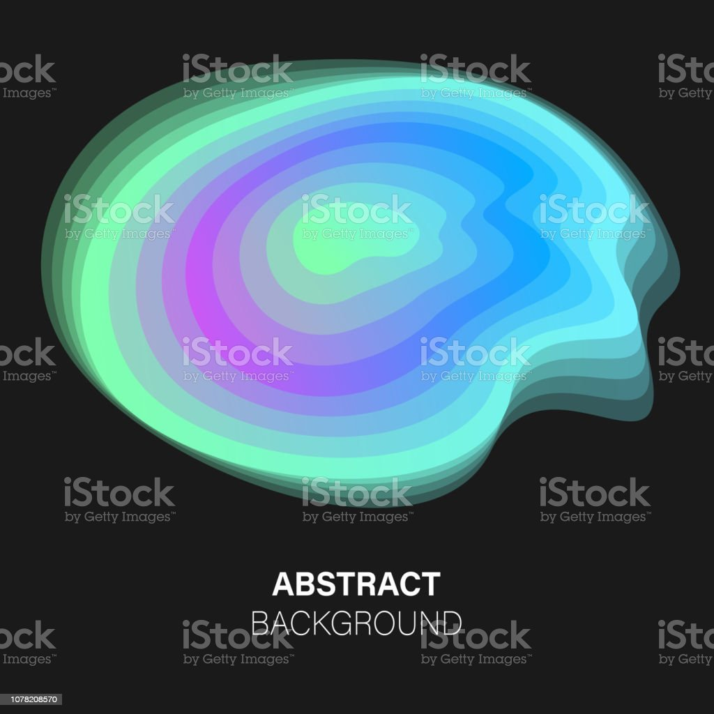 Trendy Vector Futuristic Abstract Background Neon Glow