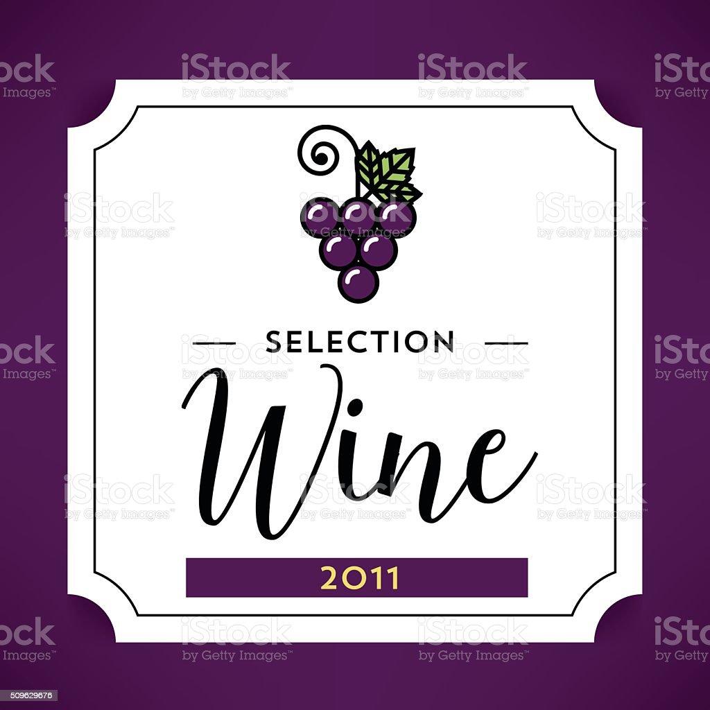 Moderne Vektor Wein Etikett Vorlage Stock Vektor Art und mehr Bilder ...