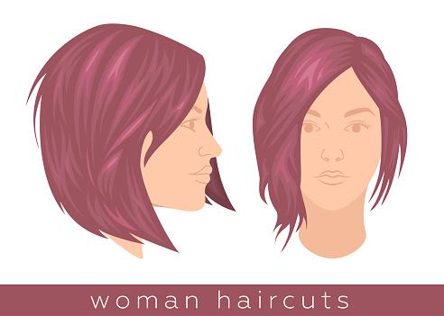 Trendy woman haircut