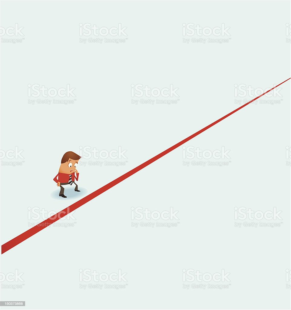 Trespassing Border vector art illustration
