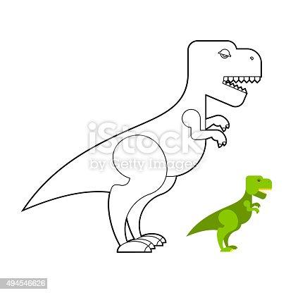 Ilustración de Trex Dinosaur Libro Para Colorear Miedo Grande ...
