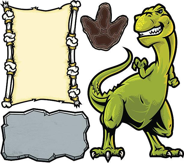 T-Rex Dinosaur Pack vector art illustration
