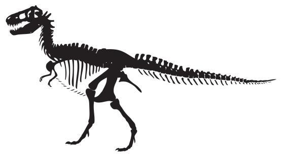 T-Rex silhouette vector