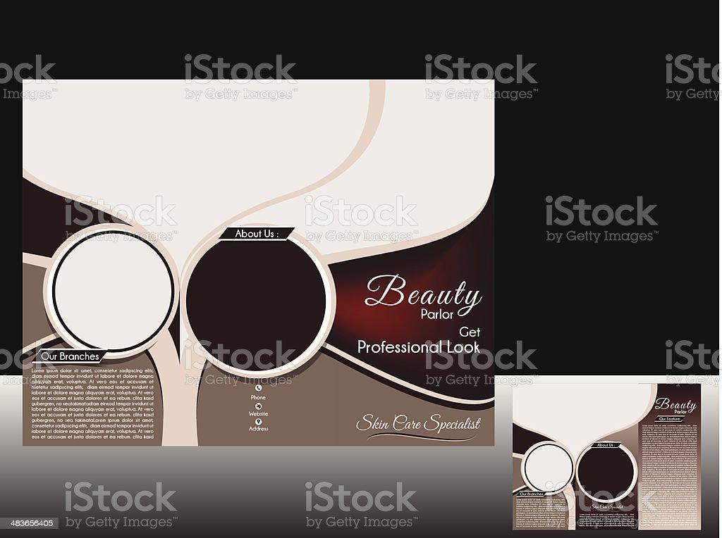 Trifold Beauty Salon Broschüre Vektor Illustration 483656405 | iStock