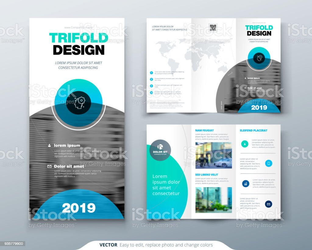 tri fold brochure design business template for tri fold flyer with